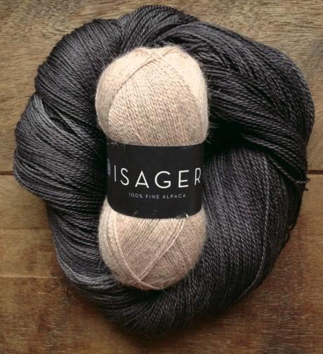 Isager Alpaca 1 - 61 Dusty Pink Melange and Squoosh - Raven