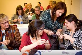 Juju teaching at Vogue Knitting Live, Chicago 2013. (Photo Courtesy of Juju Vail)