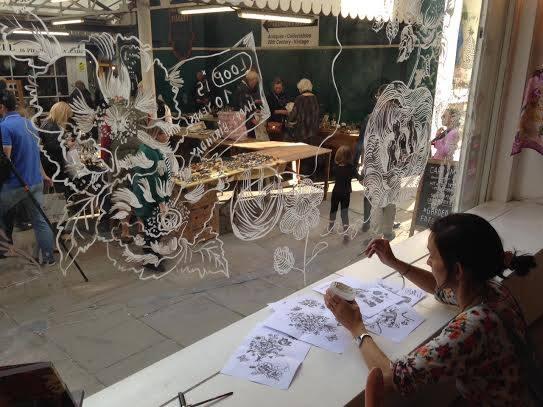 Nathalie Lete Painting Loop's Window