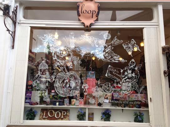 Nathalie Lete window for Loop, London