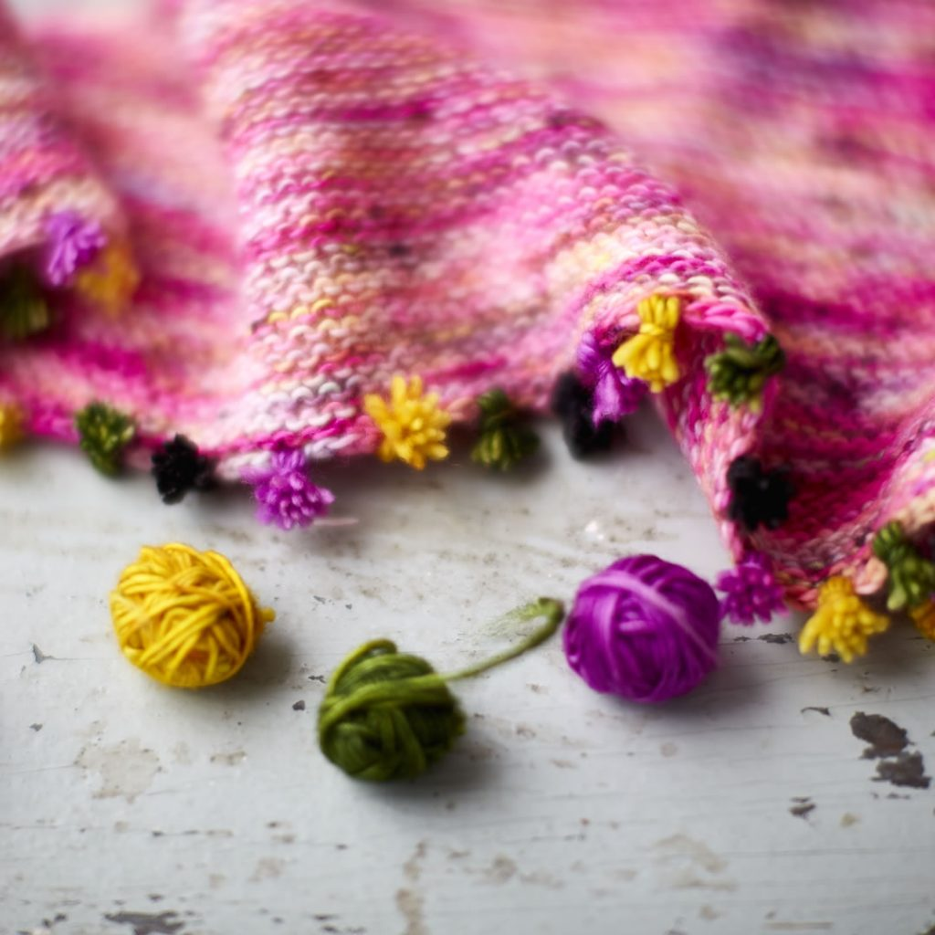 Tiny Tassels shawl at Loop London