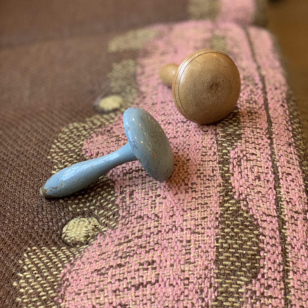 Celia Pym Darning and vintage darning mushrooms at Loop London