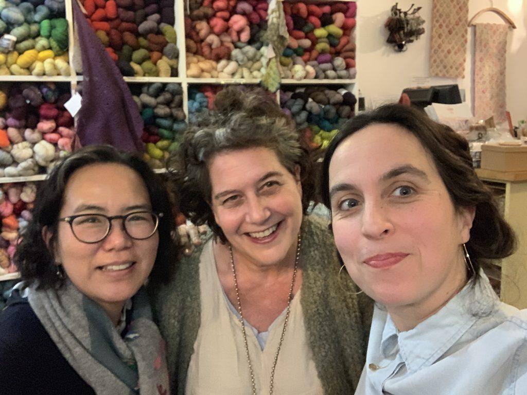 Darners in conversation at Loop London - Susan, Hikaru Noguchi and Celia Pym