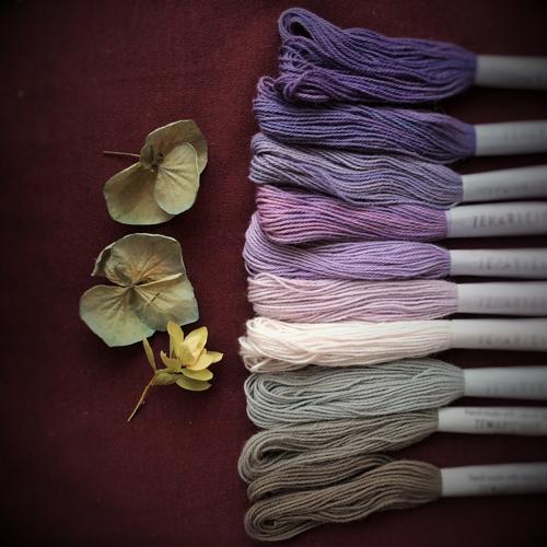 Temaricious thread set autumn hydranga at Loop London