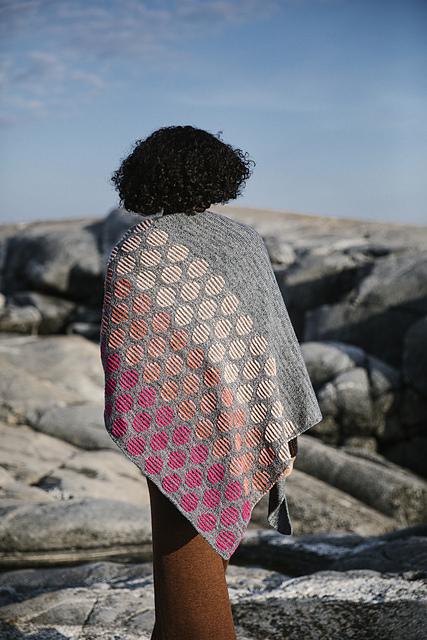 laine 9 olga jazzy winter suns shawl at Loop London 2