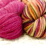 Misti Alpaca sock in Cerise and Birds in Paradise