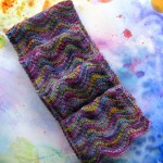 Simple ripple scarf using two skeins of Koigu