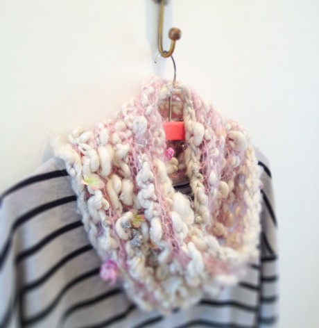Loop Knit Lounge: Candy Cowl in Knit Collage