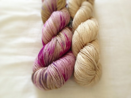 Skein Merino Silk Sport in Fig and Barley