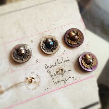 Vintage Acorn Buttons at Loop