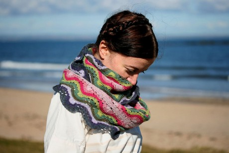 Betty Mouat Cowl available at Loop