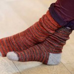 Toe Up, Afterthought Heel Socks at Loop London
