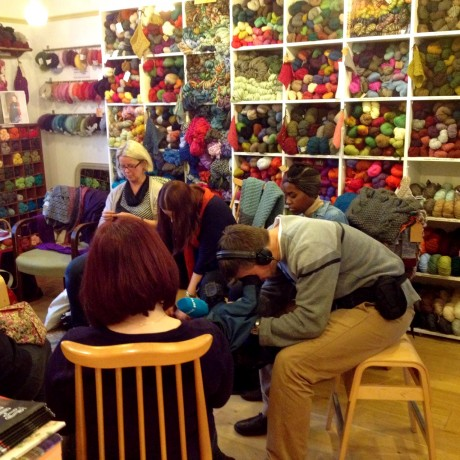 Knit Nordic author Eline Oftedal at Loop!