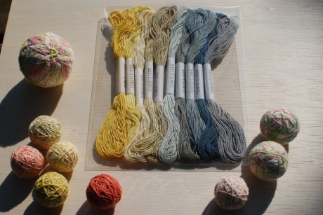 Temaricious threads hand-dyed in Japan for Loop