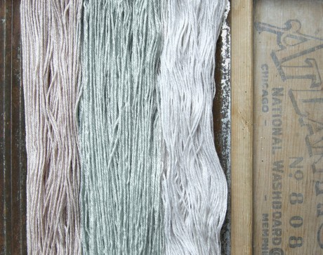 Kettle Yarn Co. Islington L-R Light Squirrelly, Nori, Fog Soup