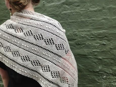 Kettle Yarn Co. Islington in Light Squirrelly. Stones and Stripes Wrap Brooklyn Tweed,Loop, London