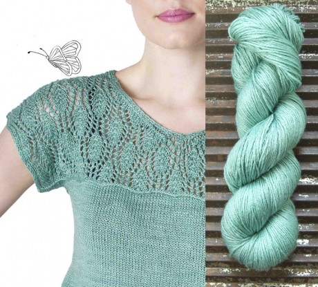 'Waterlily' by Meghan Fernandes. Images courtesy of PomPom Quarterly and Kettle Yarn Co.