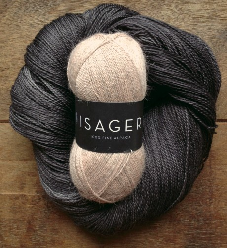 Isager Alpaca 1 - 61 Dusty Pink Melange and Squoosh - Raven