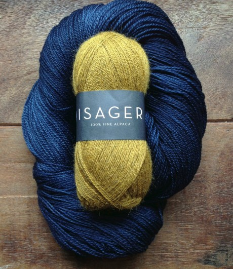 Isager Alpaca 1 - 3 Old Gold and Squoosh - Ink