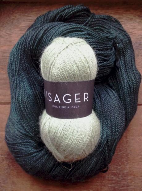 Isager Alpaca 1 - 46 Seagreen and Squoosh - Balsam