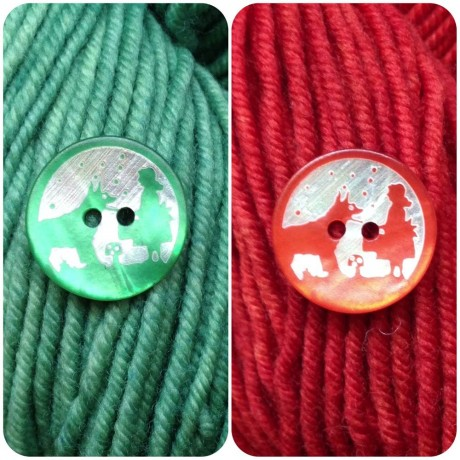Red Riding Hood Buttons. Loop, London. www.loopknitlounge.com