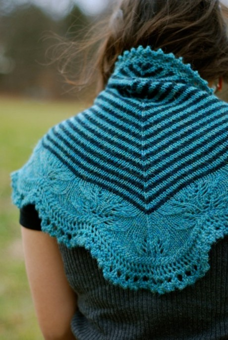 Andreas Shawl by Through the Loops. Loop, London. www.loopknitlounge