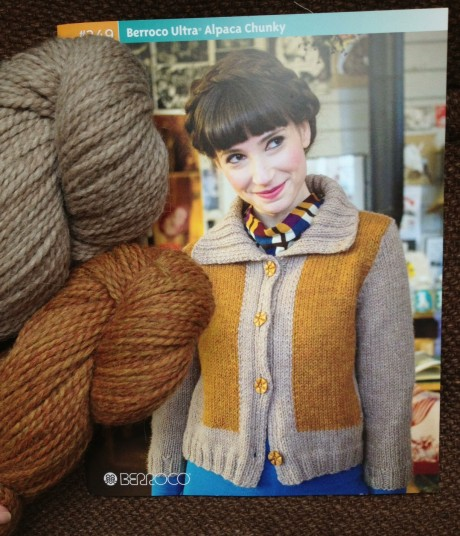Simultane in Ultra Alpaca Chunky. Colours 7292 Tigers Eye Mix, 7214 Steel Cut Oats.