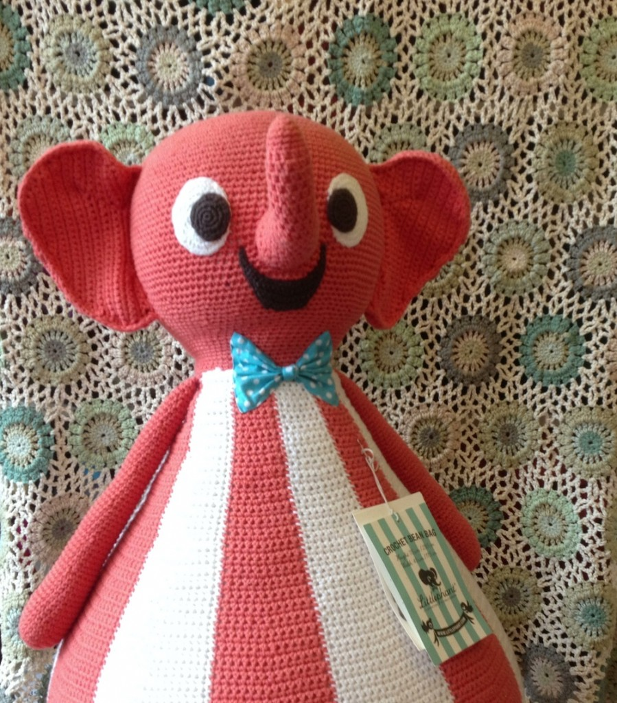 Littlephant Red. Lopo, London. www.loopknitlounge.com
