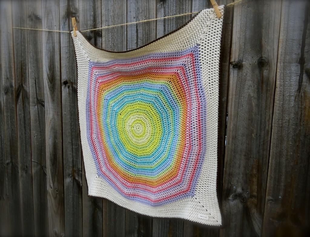 Color Wheel Blanket. Big Bad Wool