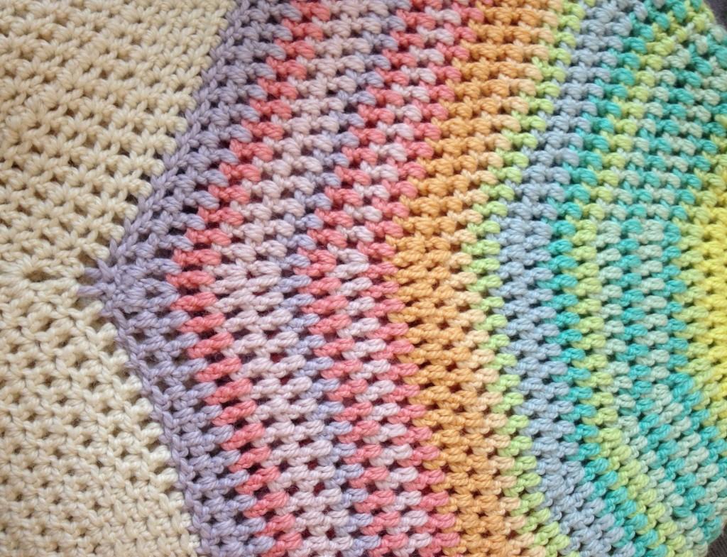 Colour Wheel Blanket. Crochet. Big Bad Wool. Loop, London
