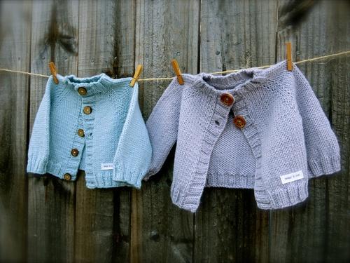 Wee Cardie in Big Bad Wool Weepaca. Loop, London. www.loopknitlounge.com