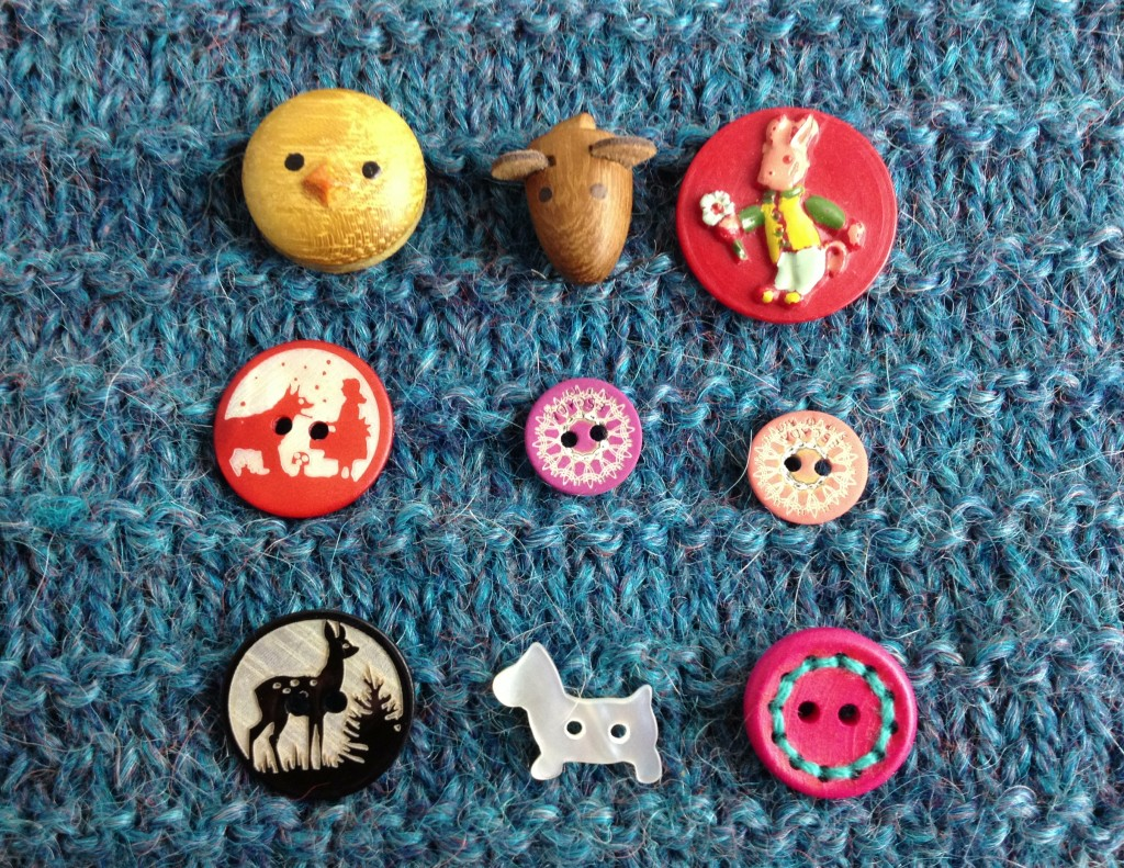Buttons for Childrens Knits at Loop, London. www.loopknitlounge.com Photo Copyright of Loop, London