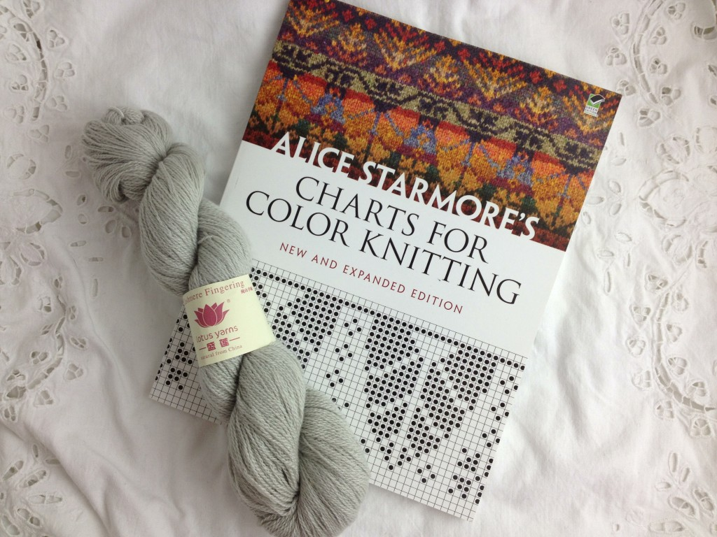 Christmas Wishlists At Loop! Lotus Cashmere Fingering in 41 Water Green and Alice Starmore's Colour Charts for Knitting