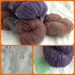 Christmas Wishlists At Loop! Shilasdair Luxury DK in Autumn Moors and Skye Gabbro and Silver Stitch Markers. www.loopknitlounge.com Loop, London