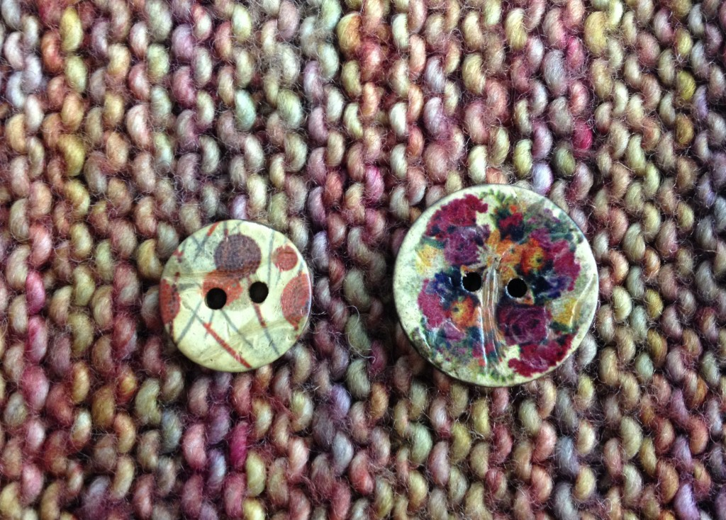 Cocco Fantasy Button and Roses Button - New Buttons at Loop London! www.loopknitlounge.com Photo Copyright of Loop, London