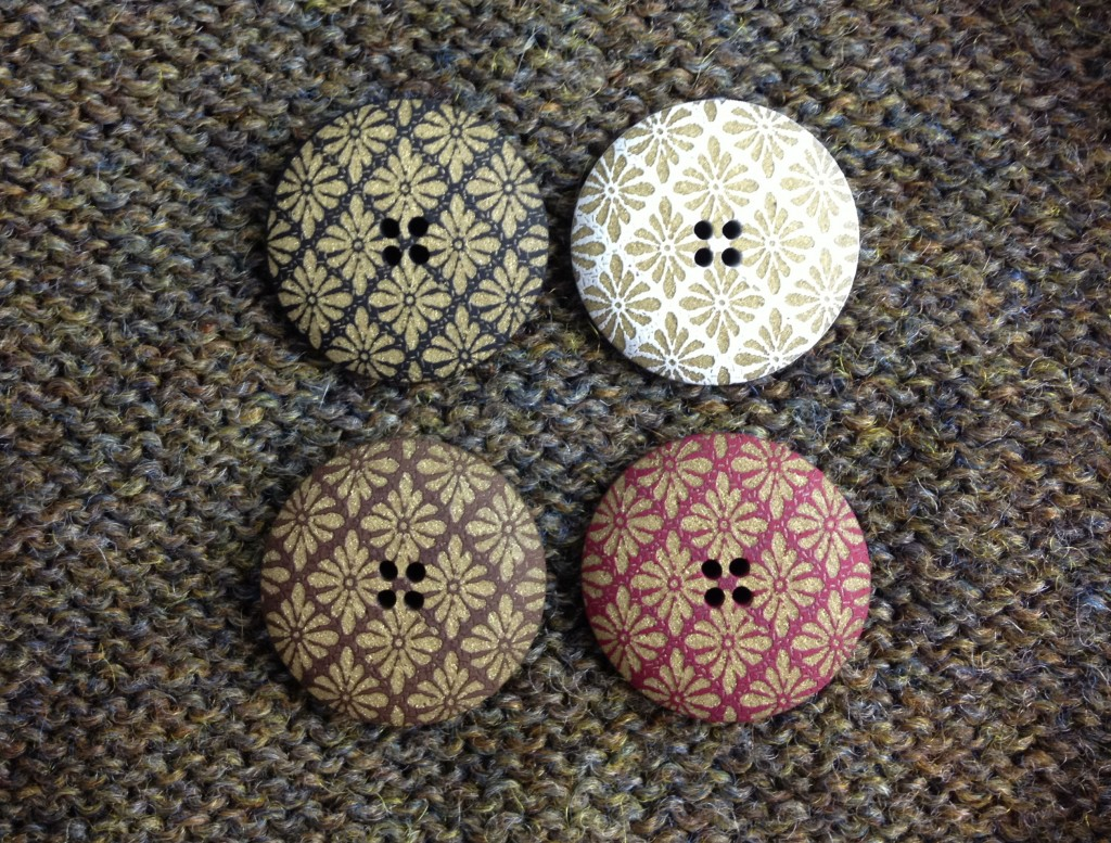 Floral Geometric Buttons at Loop, London. www.loopknitlounge.com Photo Copyright of Loop, London