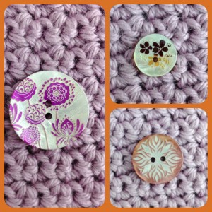 Floral Shell Buttons at Loop, London. www.loopknitlounge.com Photo Copyright of Loop, London