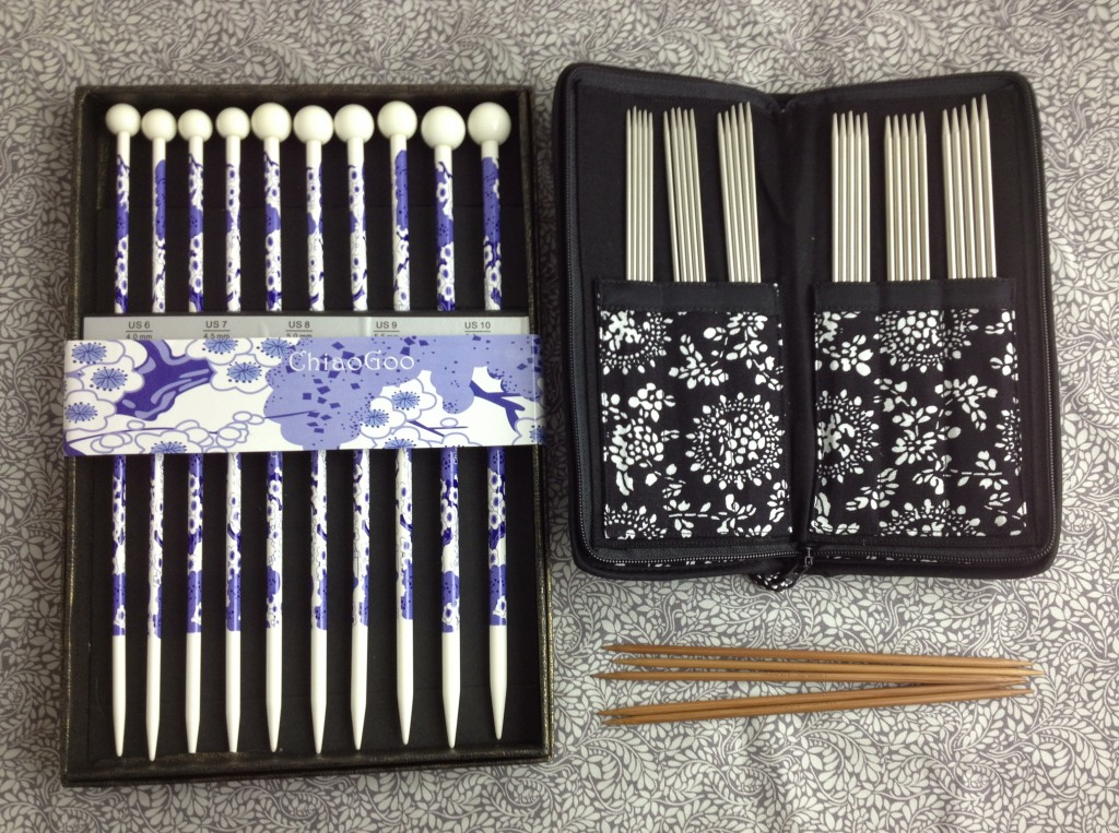 Christmas Gift Ideas At Loop! Chiaogoo Blue and White Needle Set and Chiaogoo Double Point Needles.loopknitlounge.com Loop, London