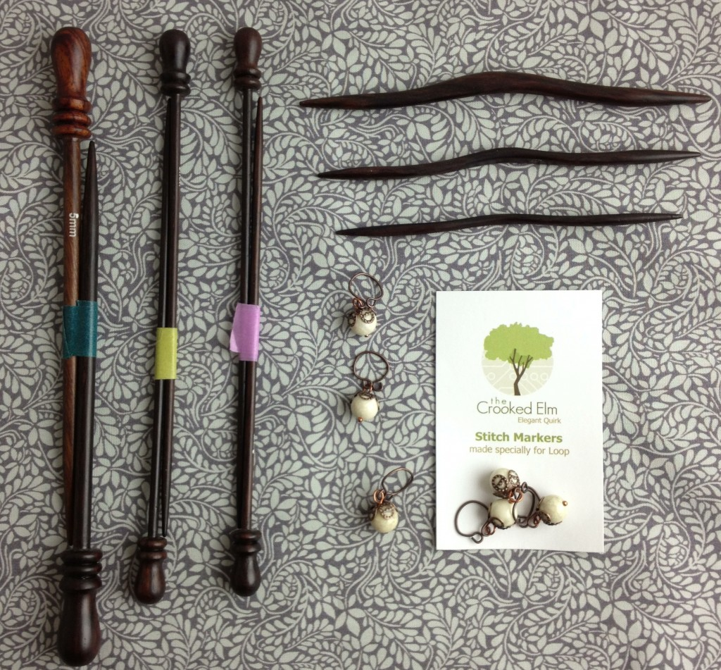 Christmas Gift Ideas At Loop! Short Rosewood Needles, Copper Berry Stitch Markers and Bryson Rosewood Cable needles. www.loopknitlounge.com Loop, London