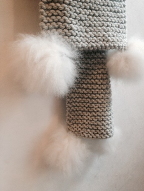Toft Chunky Scarf with Alpaca PomPoms! www.loopknitlounge.com Loop, London
