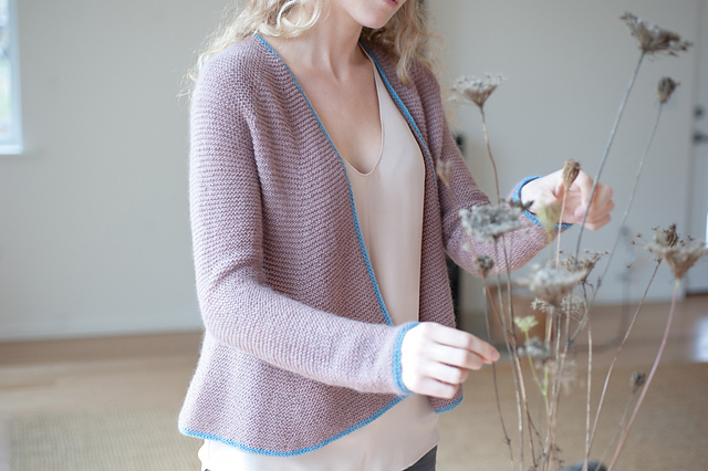 Anna Cardigan in Piper. Photo courtesy of Quince & Co.