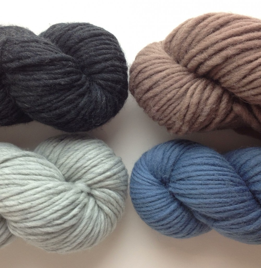 Quince & Co. Puffin CW from Top Left - Sabine, Twig, Delft, Iceland