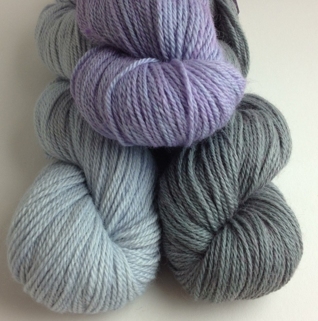The Fibre Company Canopy Fingering - CW from Top - Purple Passion, River Dolphin and Palmbud