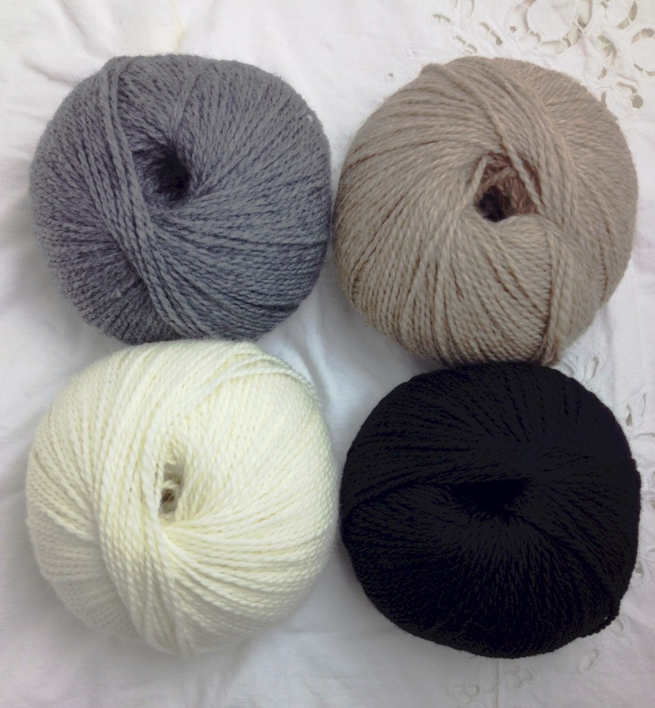 Toft DK. CW from Top Left - Steel, Stone, Black, Cream.