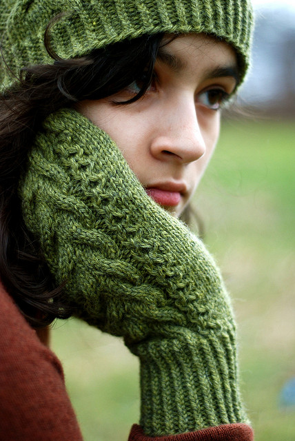 Wood Hollow Mittens by Kirsten Kapur.