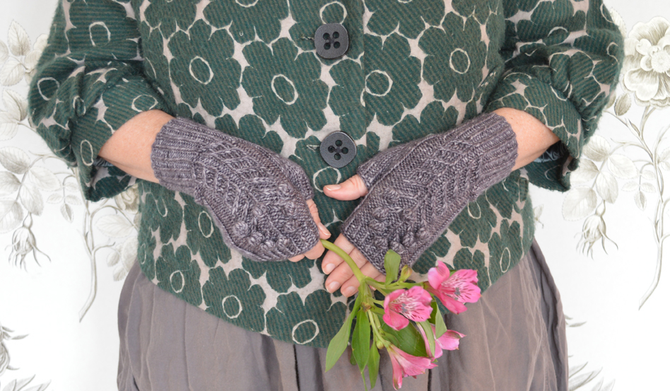 Spring Bloom Mitts by Rachel Atkinson for Loop, London. www.loopknitlounge.com