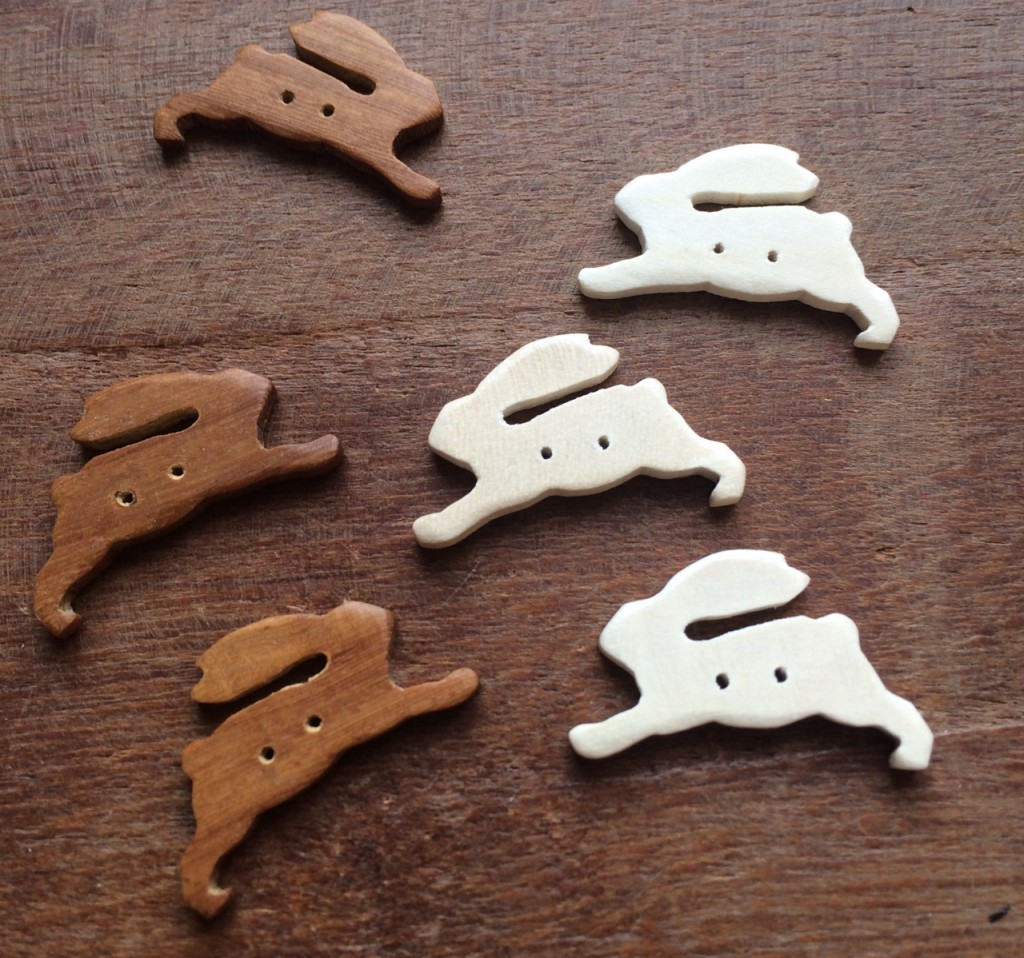 Wooden Hare Buttons