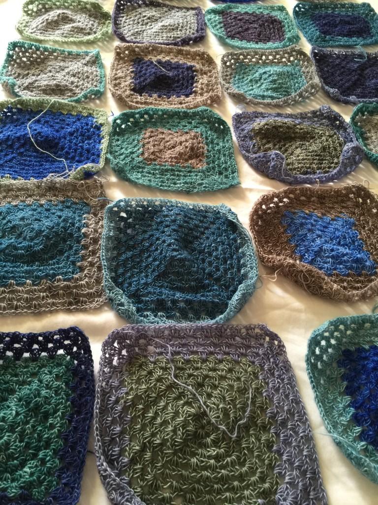 Cowgirlblues- Crochet Blanket in Lace. Photo Courtesy of Bridget Henderson. Loop, London. www.loopknitlounge.com