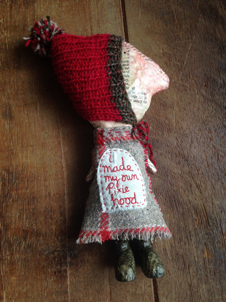 Julie Arkell at Loop. 'I made my own Pixie Hood'