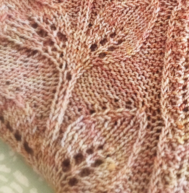 Viola Bespoke Colour for Loop, and new shawl pattern by Meghan Fernandes - coming soon this September!London